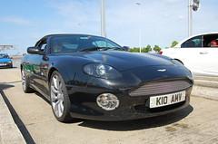 Aston Martin DB7 Vantage Volante (D's Carspotting) Tags: aston martin db7 vantage volante france coquelles calais black 20100613 k10amv le mans 2010 lm10 lm2010