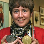 A double skiing medallist at the 1968 Olympics, where she won giant slalom gold, Nancy Greene was named her country's female athlete of the 20th century by The Canadian Press. (Chuck Stoody/Canadian Press)