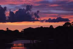Sunset tonight (tiffanycsteinke) Tags: ocean pink beach clouds gulf purple florida dunedin honeymoonisland dunedinfl