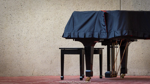 Black Dressed Grand Piano