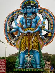 5 face Shiva (Aditya Chandra) Tags: india statue architecture lord shiva telangana