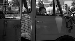 child in time (Explore) (Florian Grundstein) Tags: portrait bw cars child mercedesbenz unimog internationalflickrawards