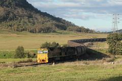 Scenic Train (james.sanders2) Tags: train scenery scenic rail australia line upper national valley nsw hunter block coal railways freight qr locomotives ulan bylong 5007 5025 wallor c44aci aurizon