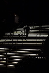 stair runner (Salle-Ann) Tags: urban night stairs movement running centralparksydney