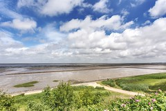 Keitum (lapideo) Tags: blue summer sky nature germany landscape island sommer insel wat sylt watt ebbe wattenmeer waddensea keitum