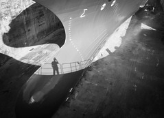 Dry dock (Blastoff Creative) Tags: life shadow sun scale bulb composition boat fishing dock marine ship photographer steel dry vessel size bow handrail hull moment naval critical unexpected happens seize alignment selfie