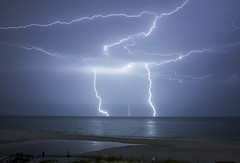 God's Etch a Sketch (lightonthewater) Tags: ocean sky storm gulfofmexico sand florida r thunderstorm lightning seagrovebeach lightonthewater floridathunderstorm
