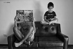 IMG_6314 (APINTUS) Tags: bw white black photomanipulation photoshop child manipulation uomo divano bianco nero bambino giornale manipolazione levitazione fotomanipolazione