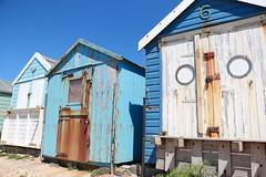 Beach Blue ........ (acwills2014) Tags: sea sun beach rust paint shades beachhuts