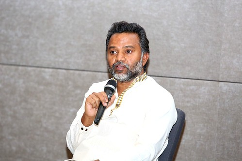 Naga Prakasam during Driving Social Innovation panel discussion