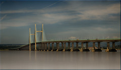 Second Severn Crossing [Explored 13/07/2015] (Nickerzzzzz - Thanks for stopping by :)) Tags: ©nickudy landscape river severn bridge water wales sky photograph ailgroesfanhafren clouds explored