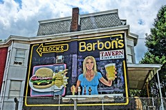 2 Blocks Barbon's (ViewFromTheStreet) Tags: street 2 woman house bus brick classic beer girl female photography reading us calle big amazing mural unitedstates pennsylvania candid burger sony side ad picture streetphotography advertisement business blond fries tavern advert blonde lancaster blocks residence avenue effect blick hdr busty 222 allrightsreserved township beertap 2blocks lancasteravenue barbon cumru viewfromthestreet bustyblonde kenhorst barbons since1950 bustyblond stphotographia cumrutownship vftsviewfromthestreet blickcalle hdrpictureeffect copyright2015 us222bus blickcallevfts copyright2015blickcalle blickcallevfts