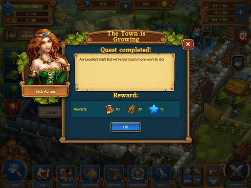 The Tribez & Castlez - Play with friends! Rewards: screenshots, UI