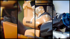 Contrasting Size (hbmike2000) Tags: trooper macro collage closeup contrast starwars nikon lego helmet size minifig d200 clone blaster quadtych hoya minifigure buildingblocks weeklytheme clonetrooper closeuplens theflickrlounge hbmike2000 geonosistrooper