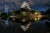 Hiroshima Castle (_Hadock_) Tags: castle hiroshima japan reflect night nightphotography photo photography castillo japon japanese mirror water blue flare star white nikon d750 tamron 2470 creative commons comons full hd high resolution wallpaper walpaper fondo de pantalla screensaver dekstop