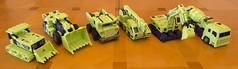 Masterpiece Constructicons - Construction Vehicle modes (Floating Cat) Tags: transformers masterpiece mp constructicon decepticons decepticon devastator toyworld