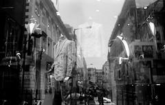 Savile Row (Rob Hall (SquarePhotography.co.uk)) Tags: robhall squarephotography london savilerow reflection monochrome film 35mm