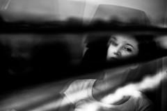 . (www.piotrowskipawel.pl) Tags: documentaryphotography documentary portrait woman reflections window trip travel travelphotography train railways germany bavaria bayern monochrome bw blackwhite blackandwhite streetphotography