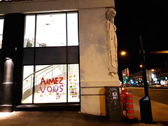 Aimez-vous (Exile on Ontario St) Tags: aimezvous aimez vous love each other message amour jesus christ religion religious côtedesneiges montreal pharmacie cotedesneiges pharmacy drugstore window display vitrine letters written cute inspiring uplifting nuit night nightshot words français french pharmaprix fenêtre windows fenêtres montréal