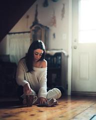 Cassandra (darylovejr) Tags: portrait pentax 67 6x7 portra 800 kodak film indoors reading read book fine art medium format girl