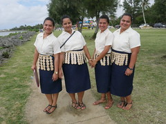 Tongan women with their traditional dress!