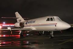 N158TW Ameristar Dassault Falcon20C at KCLE (GeorgeM757) Tags: ameristar americajetcharter dasssault falcon20c cargo aircraft aviation airfreight airport alltypesoftransport nightairplane bizjet kcle clevelandhopkins georgem757