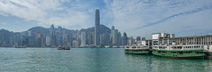 Star Ferry (- Jan van Dijk) Tags: kowloon starferry hongkong holiday vacation scape cityscape skyline clouds ferry yautsimmong tsimshatsui thepeak victoriaharbour victoriapeak vftw