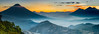 Sunset in Guatemala (neritron) Tags: sunset landscape landscapes sun light yellow red color colorful image volcano volcanoe volcanic pano panoramic panorama mountain cloud clouds cloudy mist misty guatemala america nikon d750 nikkor 2470mm f28