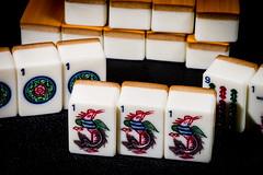Mah Jong (Richard_Turnbull) Tags: nikon d600 mah jong close bird bamboo tile game chinese