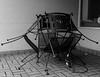 Three Chairs (that_damn_duck) Tags: chairs outdoor restaurant bw blackwhite