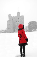 Little Red Riding Hood (daveseargeant) Tags: rochester castle red selective colour