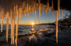 In the jaws of winter (Marc McDermott) Tags: ice water lake sunset wave winter sky beautiful warm cold freezing light icicle sunburst sunflare nature canada tree shore ontario landscape handheld f22 wow