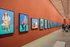 David Hockney - Portraits (Marian Pollock (Weiler)) Tags: australia melbourne victoria ngv exhibition davidhockney art painting 82 portraits sitting spectators pattern