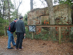 Joe and Joseph at the Smokehouse (BunnyHugger) Tags: charleston dorothybkearnspark family letterboxing southcarolina wandoriver