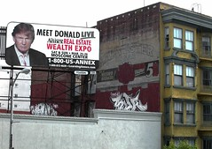 Polk Street, San Francisco 2006 (Dave Glass . foto) Tags: sanfrancisco polkgultch polkstreet trump trumpuniversity donaldtrump thedonald realestatewealthexpo wealthexpo billboard trumpbillboard trump2006