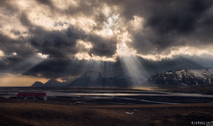 Rays (Ron Jansen - EyeSeeLight Photography) Tags: iceland southeast south east clouds wind sun rays sunrays drama light heaven heavenly d810 nikonafsnikkor2470mmf28ged