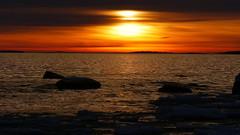January sunset on the seashore (Lauttasaari, Helsinki, 20170122) (RainoL) Tags: 2017 201701 20170122 balticsea bluehour drumsö dusk fin finland fz200 geo:lat=6014457550 geo:lon=2487680070 geotagged helsingfors helsinki january lauttasaari nyland sea seashore sunset uusimaa winter