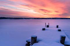 Hidden Footprints (Peter Vestin) Tags: nikondf sigma35mmf14dghsmart siruin3204x siruik30x adobecreativecloudphotography herrön skattkärr karlstad värmland sweden vänern nature landscape seascape sunrise winter snow ice