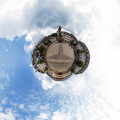 Heidelberg Little Planet (jeglikerikkefisk) Tags: panorama kugelpanorama sphericalpanorama sphärischespanorama 360° altstadt heidelberg deutschland platz wolken littleplanet