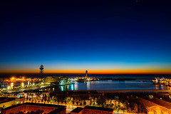 Barcelona at Sunrise (Travel by WestEndFoto) Tags: agenre artificial queueparkep flickrtravelbywestendfoto flickrcityscapesbywestendfoto bsubject flickr catalonia flickrexplored spain barcelona travel mfnikkor24mmf28ais cityscapephotography flickrtravelbarcelona dgeography flickrwestendfoto harbour fother catalunya es
