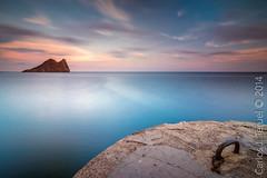 Isla del Fraile. (Carlos J. Teruel) Tags: sunset atardecer nikon mediterraneo tokina murcia nubes aguilas marinas filtros xaviersam carlosjteruel d800e
