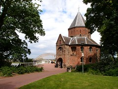 Valkhof park in Nijmegen (mdarowska) Tags: city bridge holland church netherlands dutch nijmegen europe thenetherlands nl valkhof visitholland