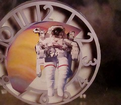 Time Has Lost All Meaning (joannmuench) Tags: boy people man men clock boys collage vintage outside outdoors handmade cut antique space paste group astronaut retro spaceman males spacesuit groups youngboy desertloca joannmuench youngboysboychild