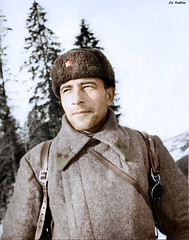 Major-General ME Katukov - commander of the 1st Guards Tank Brigade. Battle of Moscow 1941/1942 (Za Rodinu) Tags: world 2 man men history vintage soldier war gun russia military rifle rifles front german weapon ww2 soldiers historical guns 1942 1945 rare troops 1944 1943