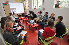 """Warm-up for the Eurovision Lab in the National Museum for Contemporary History in Ljubljana: • <a style=""""font-size:0.8em;"""" href=""""http://www.flickr.com/photos/109442170@N03/18193817580/"""" target=""""_blank"""">View on Flickr</a>"""