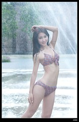 nEO_IMG_DP1U6855 (c0466art) Tags: light ballet wet water girl beautiful face canon pose nice pretty slim action sweet small waist bikini figure attractive feeling lovely charming elegant 1dx c0466art