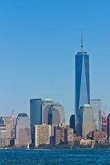 Towers of the City (SamuelWalters74) Tags: newyorkcity newyork unitedstates manhattan worldtradecenter financialdistrict empirestatebuilding batteryparkcity nycskyline newyorkharbor 7worldtradecenter freedomtower 1worldtradecenter 1wtc oneworldtradecenter