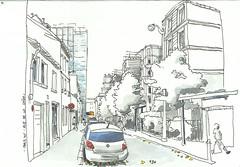 Paris_XVe-Rue de la Saïda (velt.mathieu) Tags: street paris sketch croquis