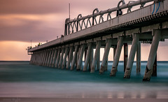 Fishing from Sand Pumping Jetty - Southport (jenni 101) Tags: longexposure moody jetty structure queensland goldcoast ndfilter southportspit nikonflickraward nikond3300
