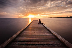 solo ... (Ludovic Lagadec) Tags: longexposure sunset sky france water landscape eau autoportrait lac 40 bois ponton couchédesoleil selfie photographe landes aquitaine longueexposition etangs canon6d filtrend quikpro14